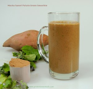 Mocha sweet potato smoothie w text