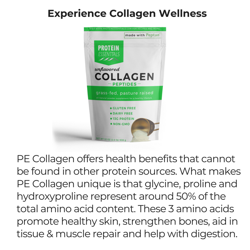 PE Collagen offers health benefits that cannot be found in other protein sources. Our collagen contains 18 amino acids, the building blocks of our tissues and the primary component of pr