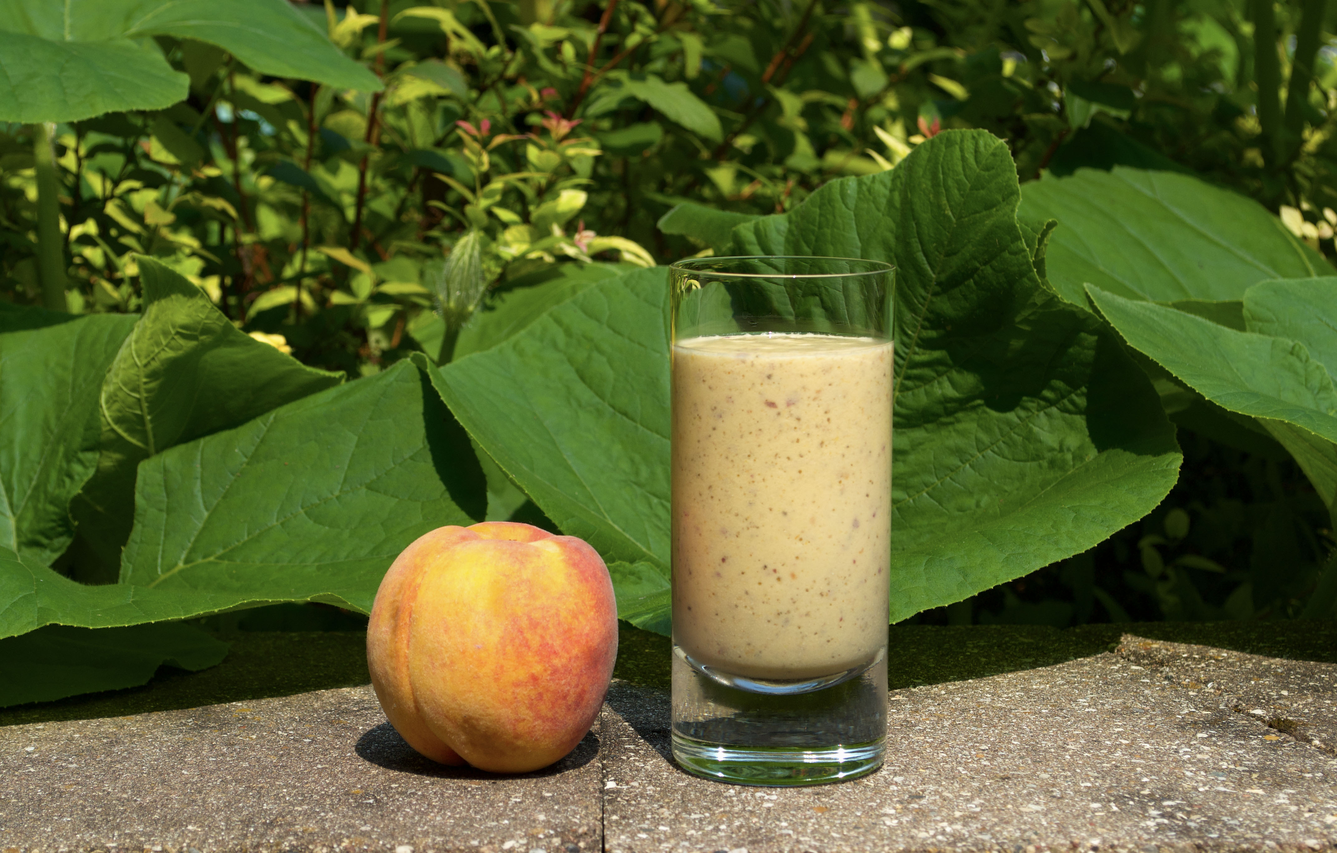 Peach Maca Chia Smoothie