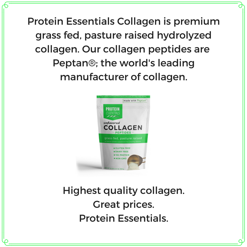 Protein Essentials Collagen is premium grass fed, pasture raised hydrolyzedcollagen. Our collagen peptides are Peptan®. The world's leading manufacture of collagen.-6